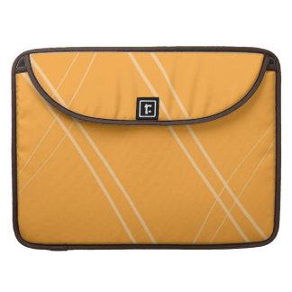 YellowOrangeInverted Crissed Crossed Sleeve For MacBooks