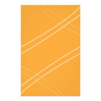 YellowOrangeInverted Crissed Crossed Stationery