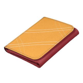 YellowOrangeInverted Crissed Crossed Leather Wallet