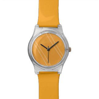 YellowOrangeInverted Crissed Crossed Watch