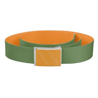 YellowOrangeInverted Crissed Crossed Belt