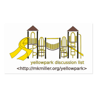 Yellowpark Discussion List Card Business Card
