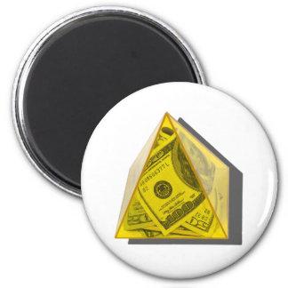 YellowPowerPyramidMoney021411 2 Inch Round Magnet