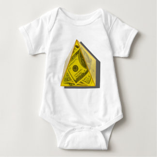 YellowPowerPyramidMoney021411 Baby Bodysuit
