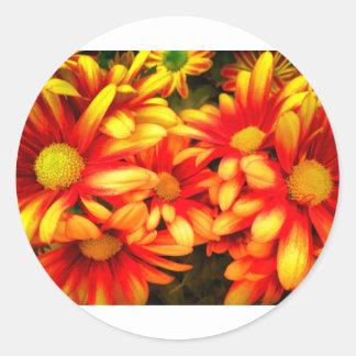 yellowred dream classic round sticker