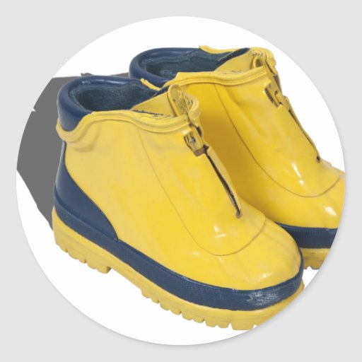 YellowRubberBoots042112.png Classic Round Sticker