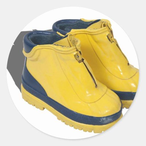 YellowRubberBoots042112.png Pegatina Redonda
