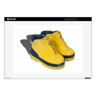 """YellowRubberBoots042112.png Skins For 15"""" Laptops"""