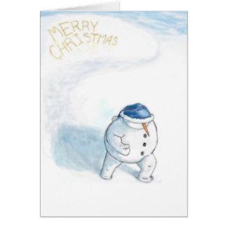 Yellowsnow Snowman Greeting Cards