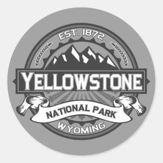 Yellowstone Ansel Adams Pegatina Redonda