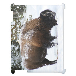 Yellowstone Bison in Winter iPad Case