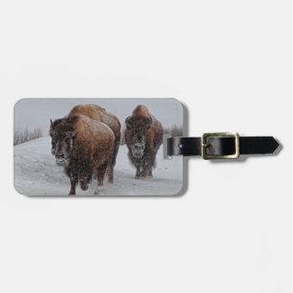 Yellowstone Bison Luggage Tag