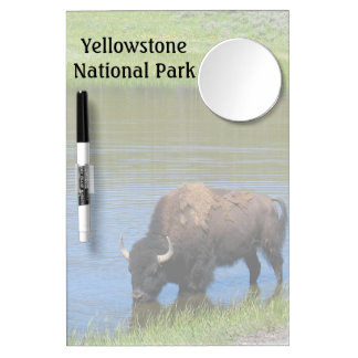 Yellowstone Buffalo Souvenir Dry Erase Board With Mirror