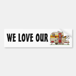 Yellowstone Camper Trailer Bumper Sticker