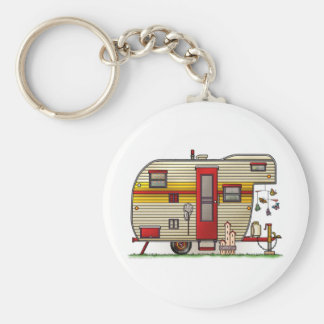 Yellowstone Camper Trailer Keychain