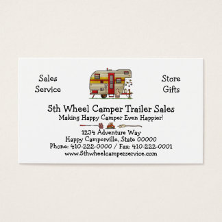 Yellowstone Camper Trailer M Business Card
