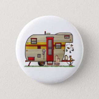 Yellowstone Camper Trailer Pinback Button