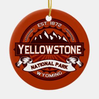 Yellowstone Crimson Ceramic Ornament