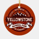 Yellowstone Crimson Double-Sided Ceramic Round Christmas Ornament