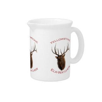 Yellowstone Elk-Watcher Drink Pitcher