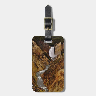 YELLOWSTONE FALL IN YELLOWSTONE NATIONAL PARK TAG FOR LUGGAGE