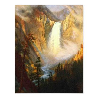 "Yellowstone Falls Invitations 4.25"" X 5.5"" Invitation Card"