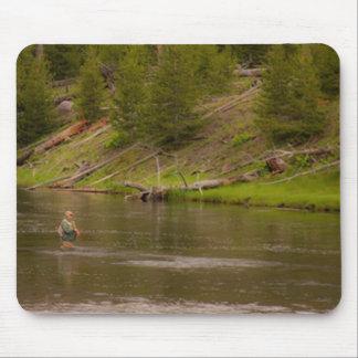 Yellowstone Fishing Mouse Pad
