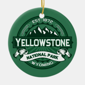 Yellowstone Forest Ceramic Ornament