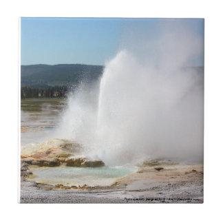 Yellowstone Geyser Ceramic Tile