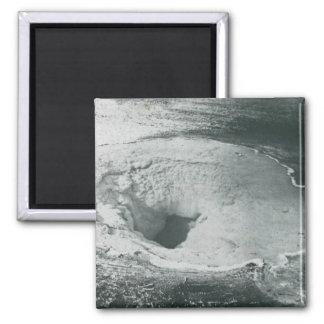 Yellowstone Geyser Vintage Glass Slide Refrigerator Magnet