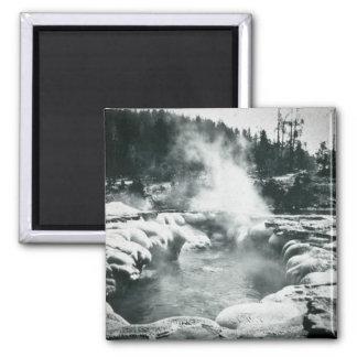 Yellowstone Geyser Vintage Glass Slide Refrigerator Magnets