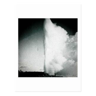 Yellowstone Geyser Vintage Glass Slide Postcard
