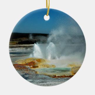Yellowstone Geysers Ceramic Ornament