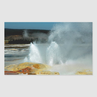 Yellowstone Geysers Rectangular Stickers