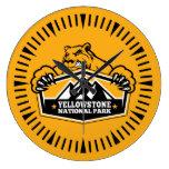 Yellowstone Gold Bear Watch Clock