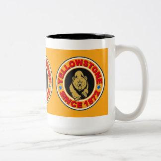Yellowstone Gold Circle Two-Tone Coffee Mug