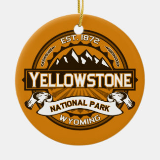 Yellowstone Golden Ceramic Ornament