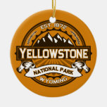 Yellowstone Golden Double-Sided Ceramic Round Christmas Ornament