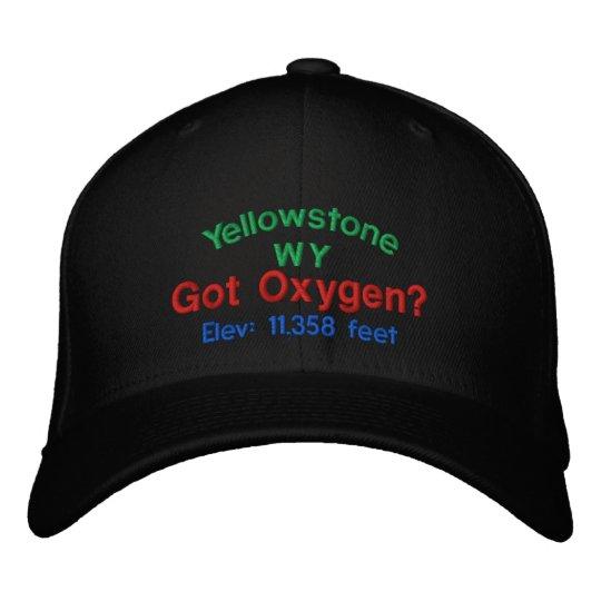 db28b1b83 Yellowstone Got Oxygen? Embroidered Cap   Zazzle.com