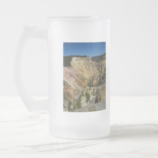 Yellowstone Grand Canyon Frosted Glass Beer Mug