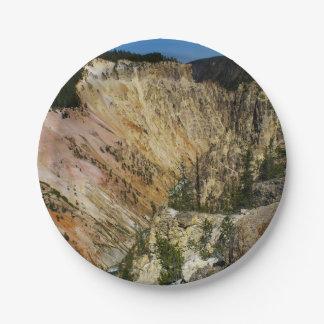 Yellowstone Grand Canyon Paper Plate