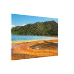 Yellowstone Grand Prismatic Spring Wrapped Canvas Stretched Canvas Print