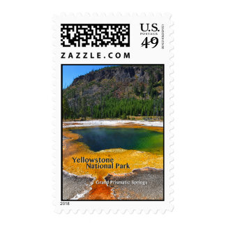 Yellowstone - Grand Prismatic Springs Postage Stamp