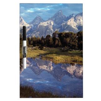 Yellowstone Grand Teton Reflections Dry Erase Whiteboards