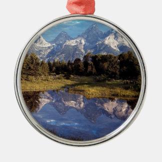 Yellowstone Grand Teton Reflections Metal Ornament