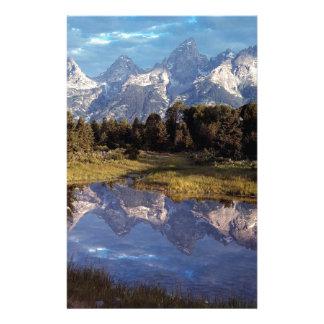 Yellowstone Grand Teton Reflections Stationery