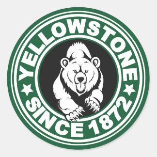 Yellowstone Green Circle Classic Round Sticker