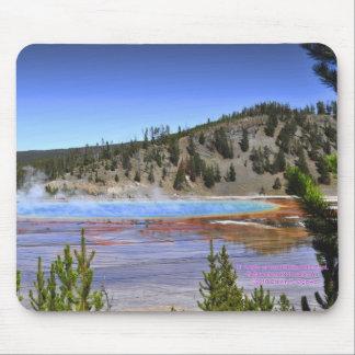 Yellowstone - High Angle Grand Prismatic Pool Mouse Pad