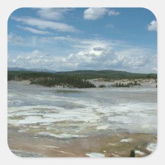 Yellowstone hot land, geyser stickers