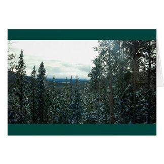 Yellowstone in Winter Christmas or Holidays card